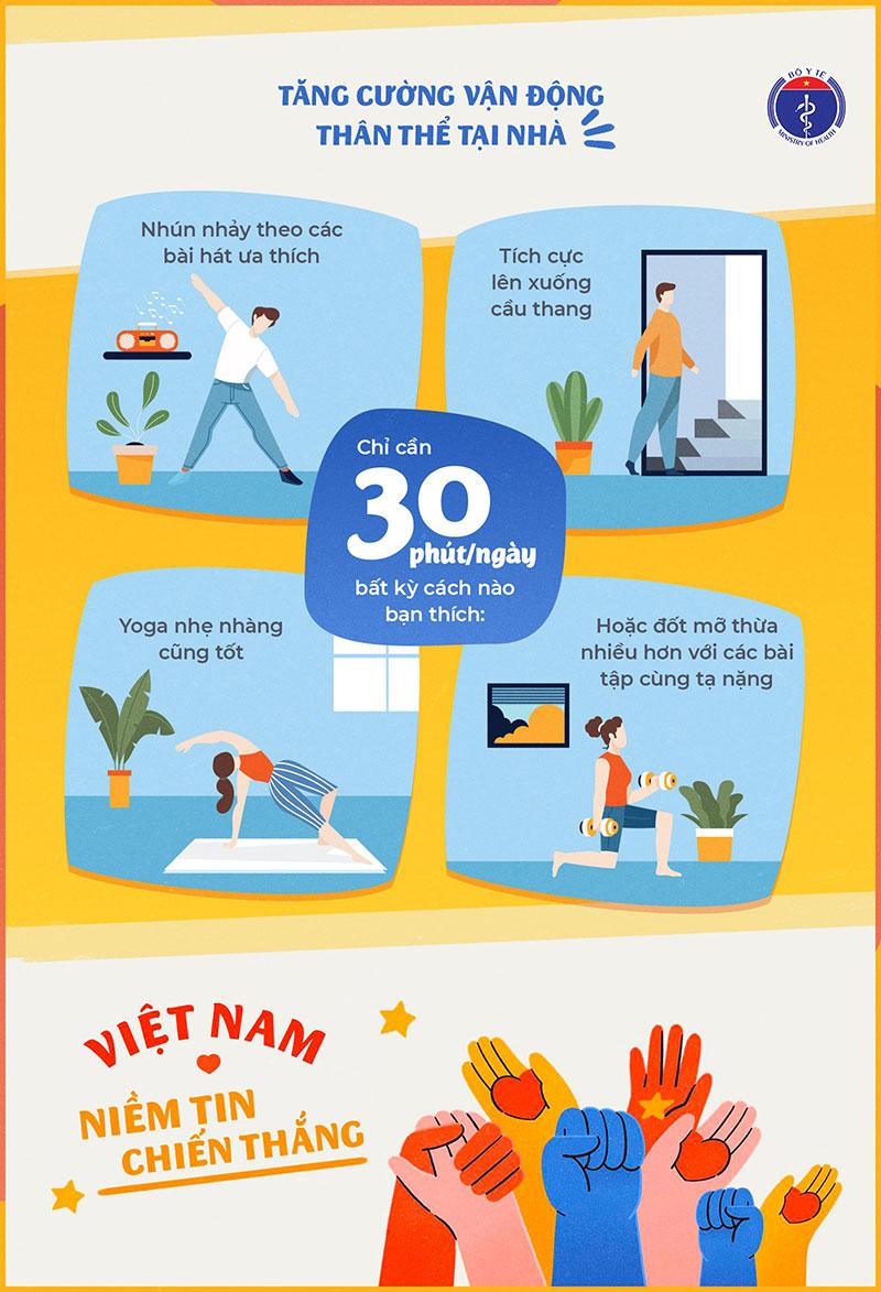 Vận động thường xuyên tại nhà giúp phòng bệnh hiệu quả